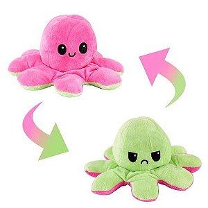 Pelucia Polvo Reversível Rosa/Verde - Bbr Toys
