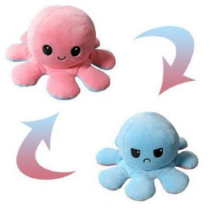 Pelucia Polvo Reversível Rosa/ Azul - Bbr Toys