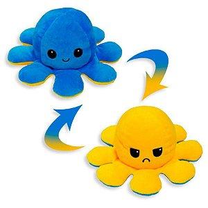 Pelúcia Polvo Azul/Amarelo - Bbr Toys