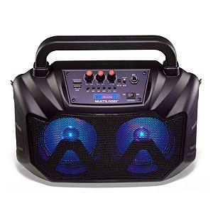 Caixa de Som Bluetooth Multilaser SP289 80W Double Speaker