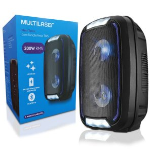 Caixa de Som Multilaser Mini Torre Bluetooth 200W