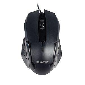 Mouse Usb Óptico Preto - Hoopson