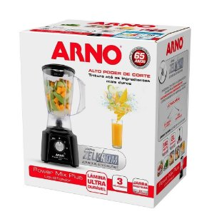 Liquidificador Arno Power Mix Plus Lq20 Com 3 Velocidades 127V / 550w - Preto