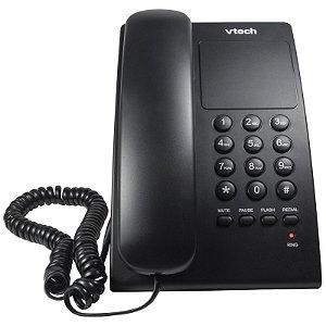 Telefone Digital de Mesa C/ Fio VTC105B Preto VTECH
