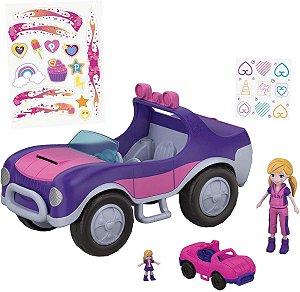 Veículo e Boneca - Polly Pocket - Polly e Veículo Secreto - Mattel