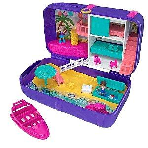Boneca Polly Pocket - Aventura Lugares Escondidos Mochila de Praia Fry39/fry40 - Mattel