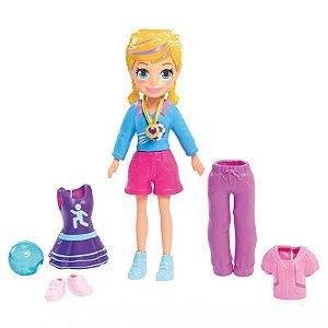 Boneca Polly Pocket - Jogadora de Futebol GDL98 - Mattel