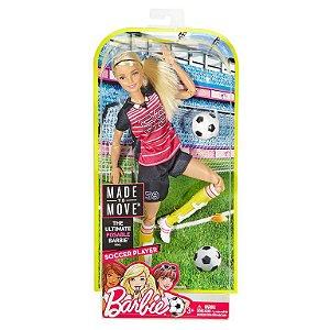 Boneca Barbie Jogadora De Futebol Loira Mattel