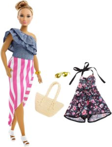 Boneca Barbie Fashionistas 102 Saia Listrada Fjf67 - Mattel