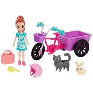 Polly Triciclo Pet Mattel
