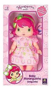 Boneca Baby Moranguinho Amiguinha Com Cheirinho Mimo