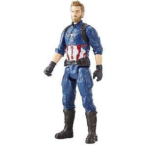 Boneco Avengers Figura 12 Power FX Capitão America Hasbro