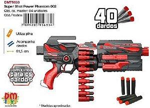 Lancador Super Shot 40 Dardos Dmt5633 Comercial Dm Brasil