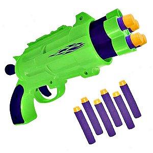 Lançador Verde 6 Dardos Hora da Disputa - Unik Toys