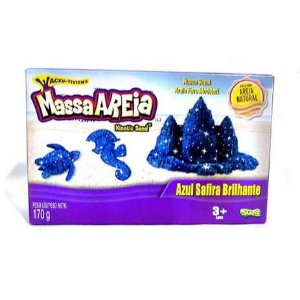 Massa Areia para Modelar Kinetic Sand Azul Brilhante 170g - Sunny