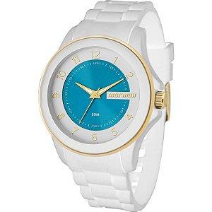 Relógio Mormaii Branco Feminino Mo2035an/8b