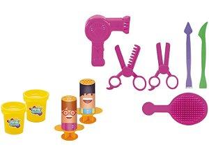 Massinha Amasse Brinque Estúdio de Beleza e - Barbearia Xplast com Acessórios
