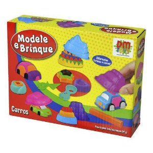 Massinha De Modelar Carros Modele E Brinque Formas - Dm Toys