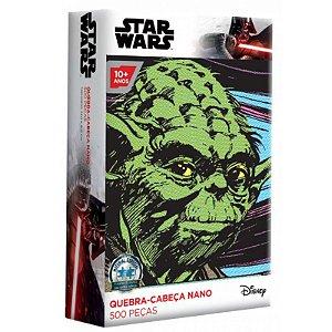 Quebra-Cabeça Star Wars - Yoda 500 Peças Nano - Toyster