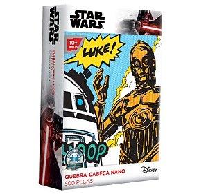 Quebra-Cabeça Star Wars - C3PO 500 Peças Nano - Toyster