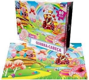Quebra Cabeça Candy Premium 80 Peças - Pais e Filhos