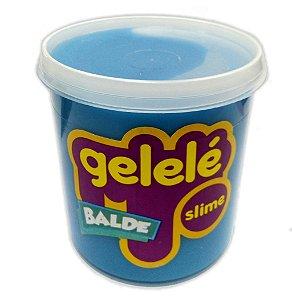 Gelelé Slime Balde Tradicional Azul 457g - 3352 Doce Brinquedo