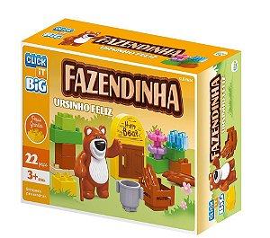 Brinquedo Blocos De Montar Com 22peças Big Ursinho Feliz - Sertic