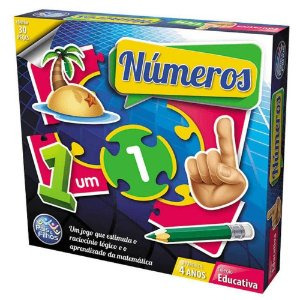 Jogo Brincar De Aprender Números Com 30 Peças - Pais E Filhos