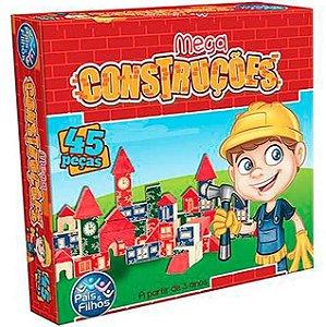Jogo Mega Construções 45 Peças -Pais e Filhos