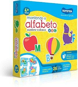 Quebra-Cabeça Montando o Alfabeto 26 Peças Toyster