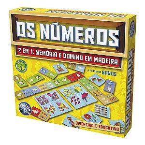 Jogo Os Números 2 Em 1: Memória e Dominó  em Madeira- Pais e filhos