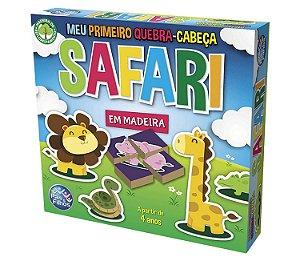 Meu Primeiro Quebra Cabeça Safari - Pais E Filhos