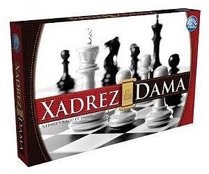 Jogo de Xadrez e Damas- Pais e Filhos