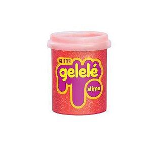 Gelelé Slime Glitter Pote 152G Laranja - Doce Brinquedo