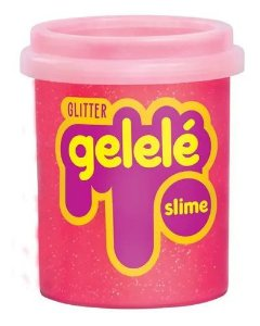Gelelé Slime Glitter Pote 152G Coral - Doce Brinquedo