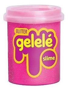 Gelelé Slime Glitter Pote 152G Rosa - Doce Brinquedo