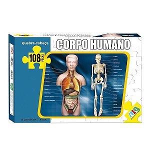 Quebra-Cabeça Corpo Humano 108 peças - Nig
