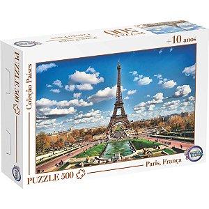 Quebra Cabeça Puzzle 500 Peças Torre Eiffel Paris,França -Toia