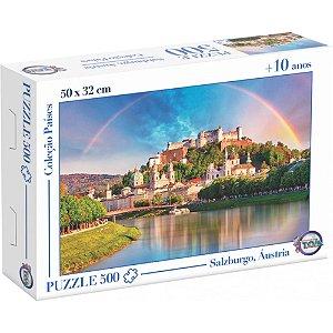 Quebra Cabeça Puzzle 500 Peças Rio Salzach  Salzburgo, Áustria -Toia