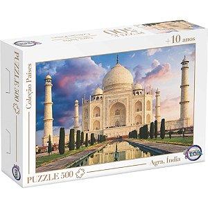 Quebra Cabeça Puzzle 500 Peças Taj Mahal Agra,índia - Toia