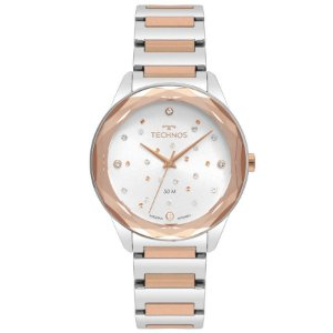 Relógio Technos Feminino Crystal Bicolor - 2036MKI/4C