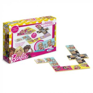 Domino Barbie 28 Peças Xalingo