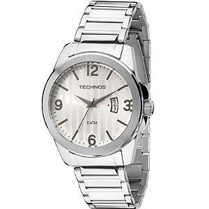 Relógio Technos Classic Steel Masculino Prata – 2115KSA/1K