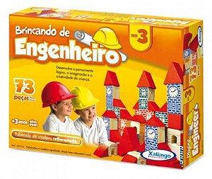 Brincando De Engenheiro 3 C/73 Pcs Xalingo