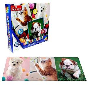 Jogo Quebra Cabeca Pets Progressivo 30/45/56 PCS