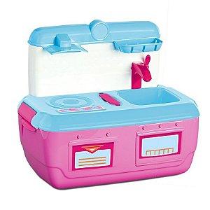 Mini Cozinha - Fashion Kitchen - Azul e Rosa - Roma Jensen