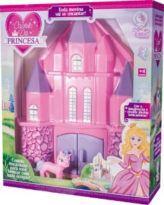 Castelo Das Princesa Menina Rosa