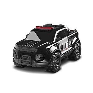 Carrinho Roma Jensen Pick-Up Force - Police Preto