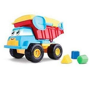 Caminhão Basculante Didático Brinquedo Educativo - Silmar