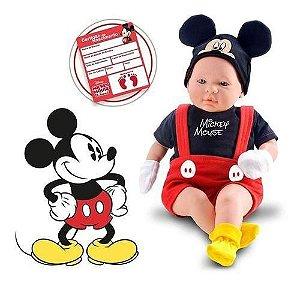 Boneco Recem Nascido Mickey - Roma